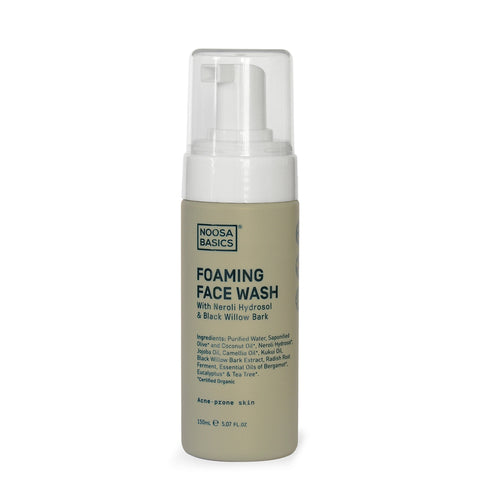 Noosa Basics Foaming Face Wash with Neroli Hydrosol & Black Willow Bark - 150ml