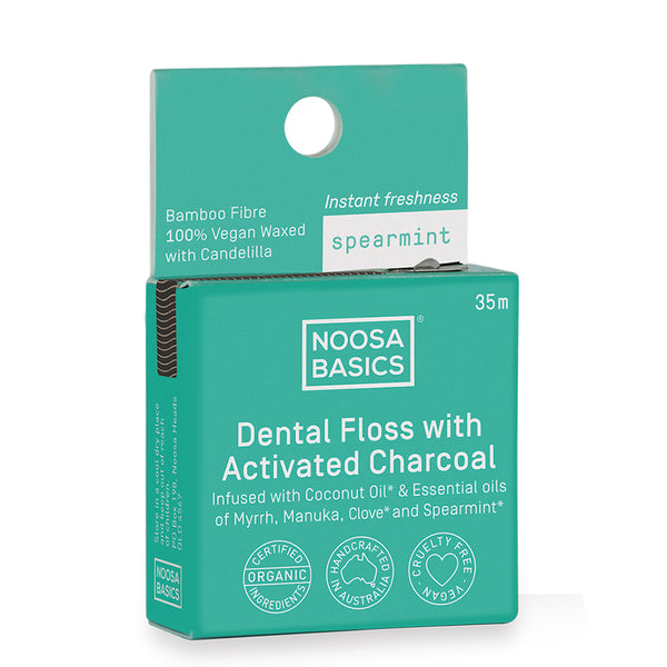 Noosa Basics Dental Floss with Activated Charcoal - 35m