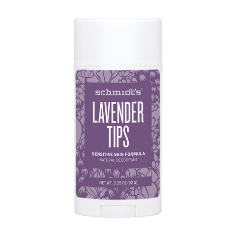 Schmidt's Deodorant Stick Lavender Tips (Sensitive Skin) - 92g