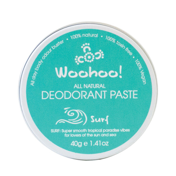 Woohoo All Natural Deodorant Paste - Surf 40g