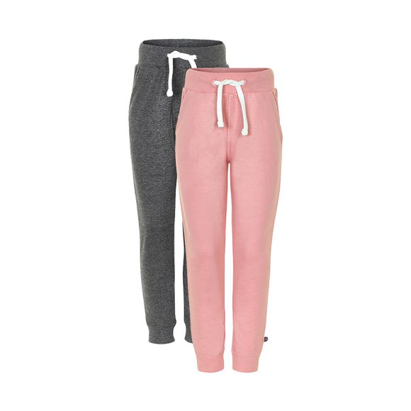 MINYMO - Sweat pants - Rose + Dark grey 2-pack - str 128
