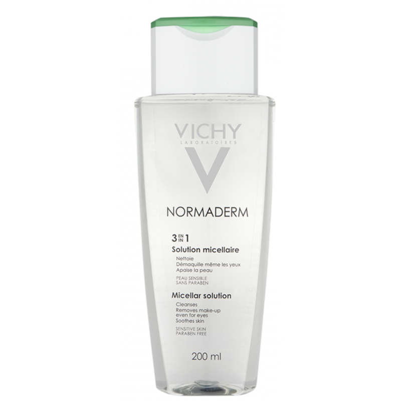 Vichy - Ansigtsrens - Normaderm 3in1 Micellar Solution 200 ml
