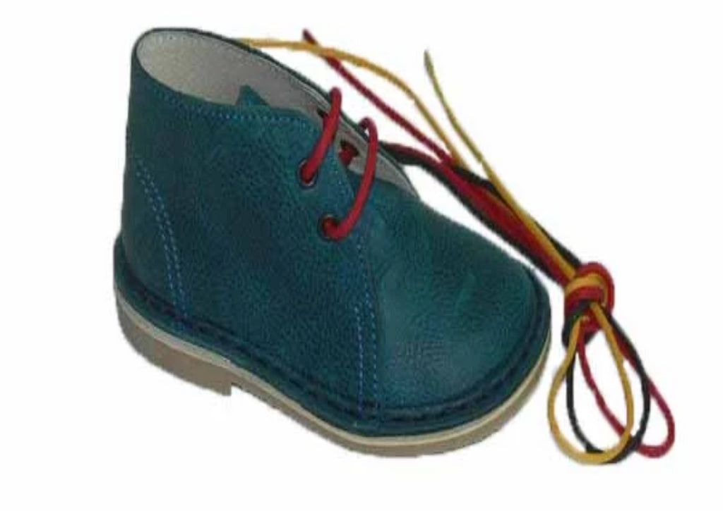Leather desert boot - Green