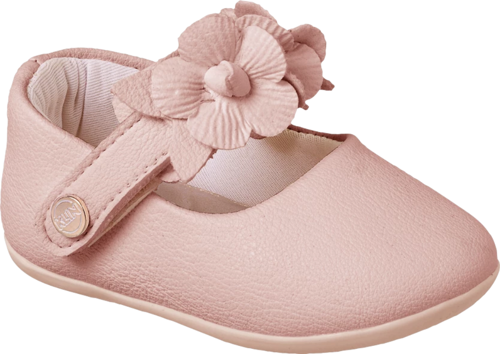 KLIN  pink shoe with flower embellishment, Style - CARAVINHO PRINCESS