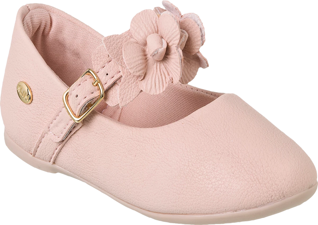 KLIN pink stylish shoe with flowers on strap, Style - PRINCESA BABY