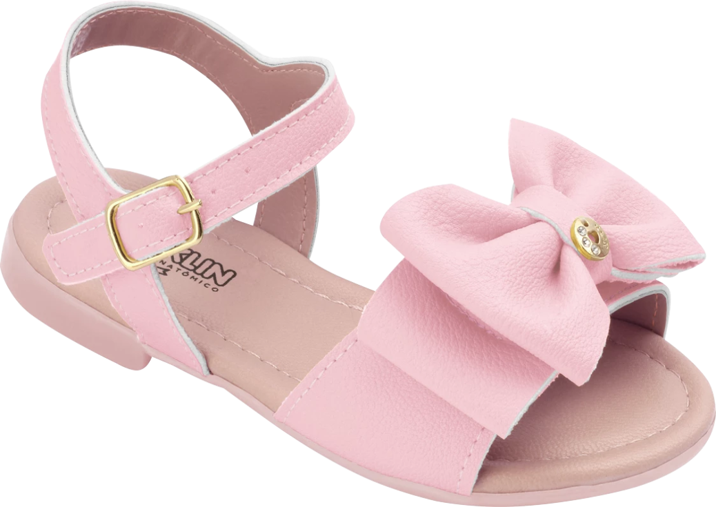 KLIN light rose sandal with bow, Style - SUAMI BABY
