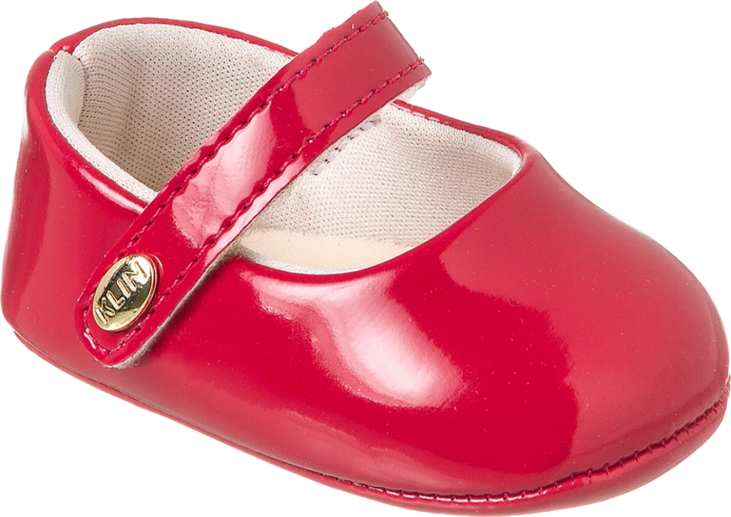 KLIN  sleek red shoe, Style - RECEM NASCIDO