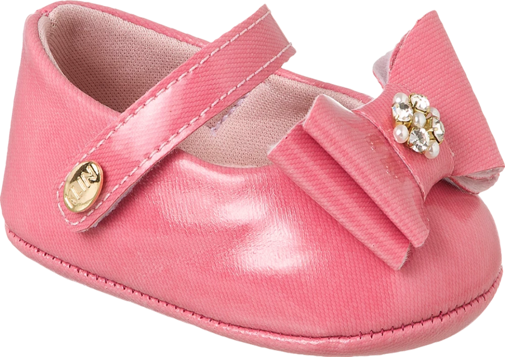 KLIN - stunning pink shoe with bow, Style - RECEM NASCIDO