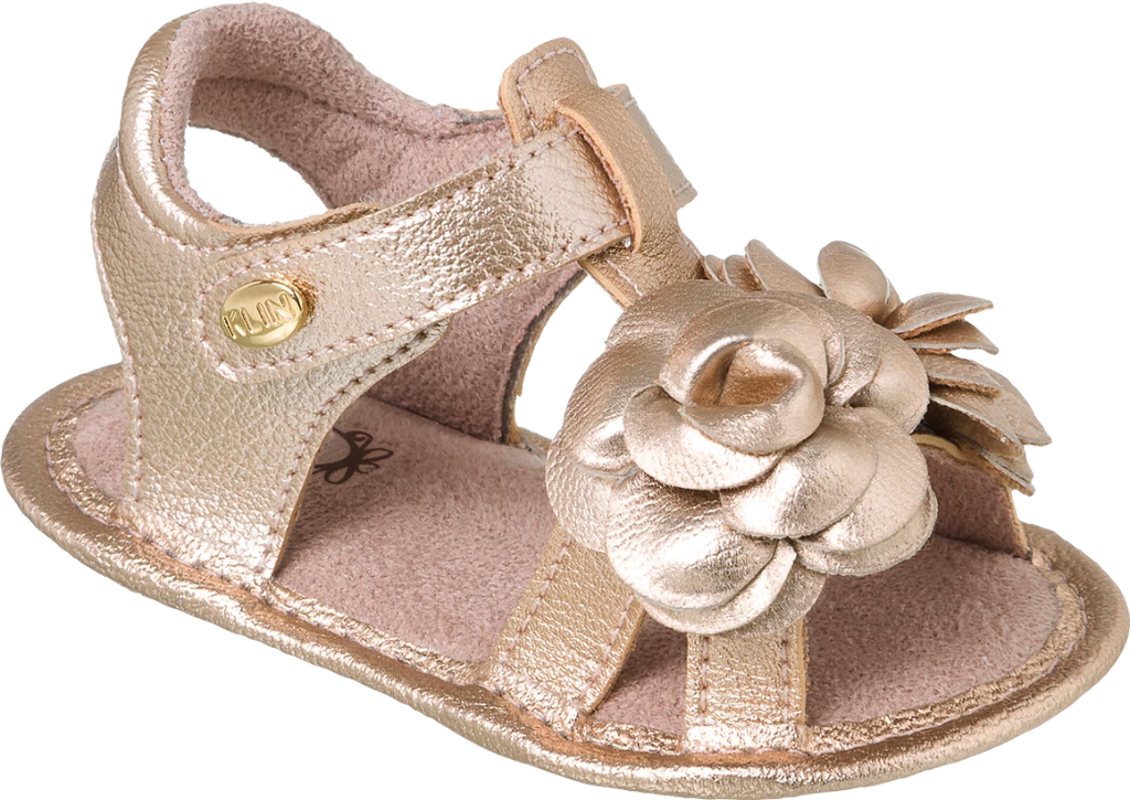 KLIN pink sandal with flower embellishment, Style - ALGODAO DOCE