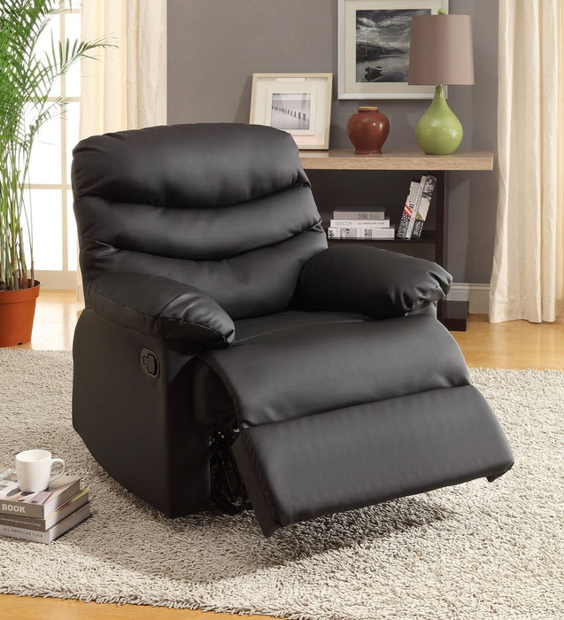 Pleasing Berth Black Bonded Leather Recliner Pdpeps Interior Chair Design Pdpepsorg