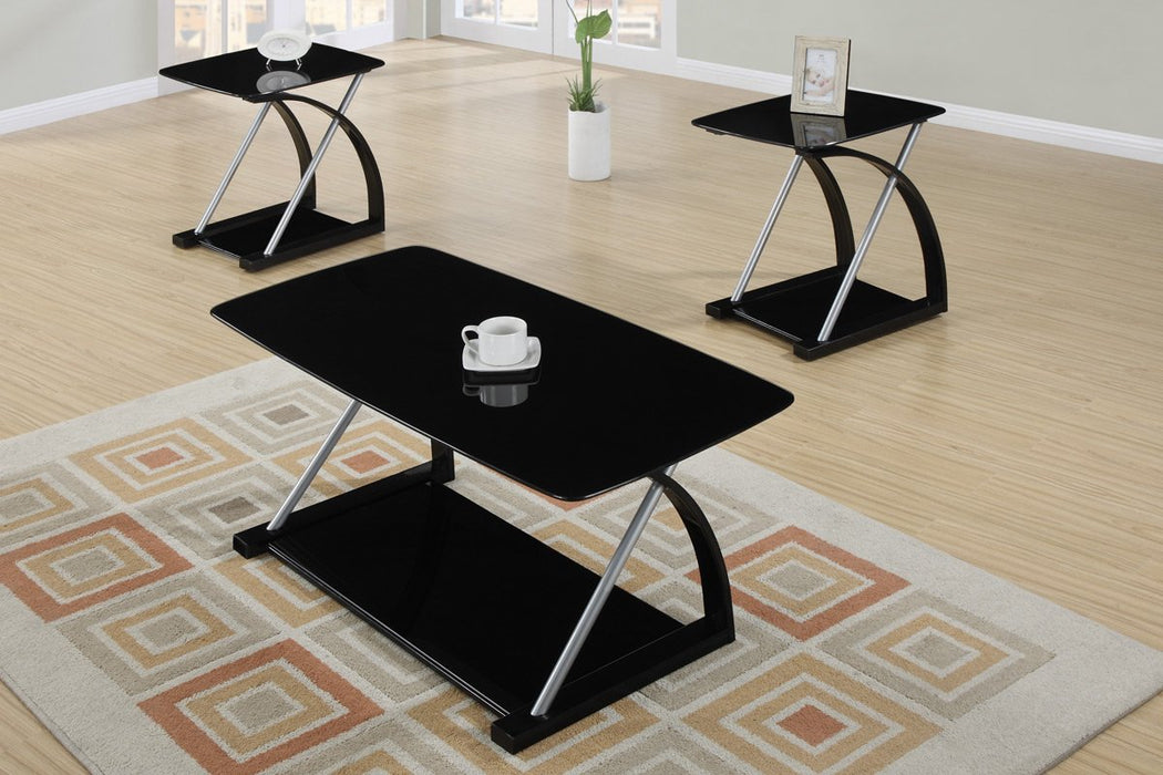 3 Piece Glass Top Coffee Table Sets.Cray 3 Piece Tempered Glass Top Coffee Table End Tables Set