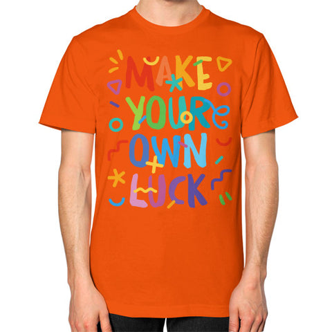 Unisex T-Shirt (on man) Orange Shady Sluts Eyewear... get some.