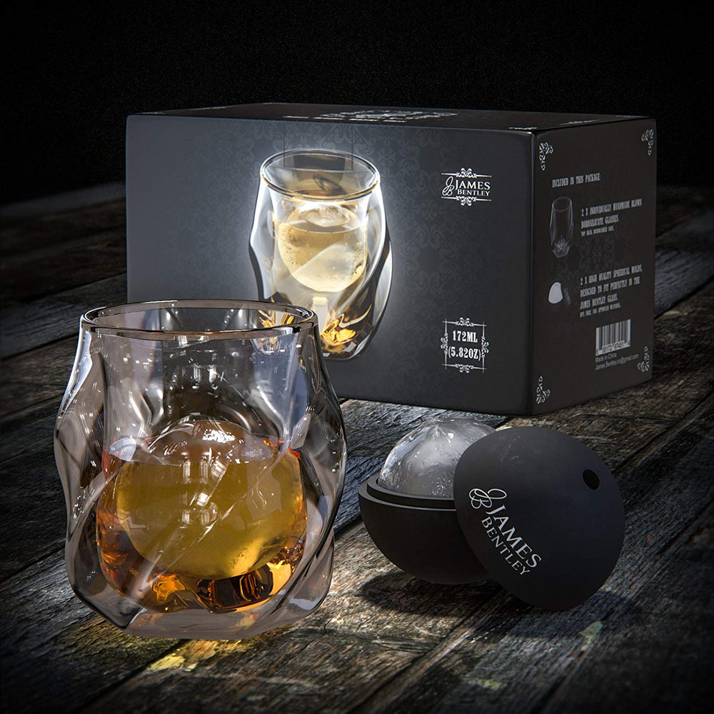 JB Whiskey Glass | Set of 2 Hand-blown Double Wall Glasses