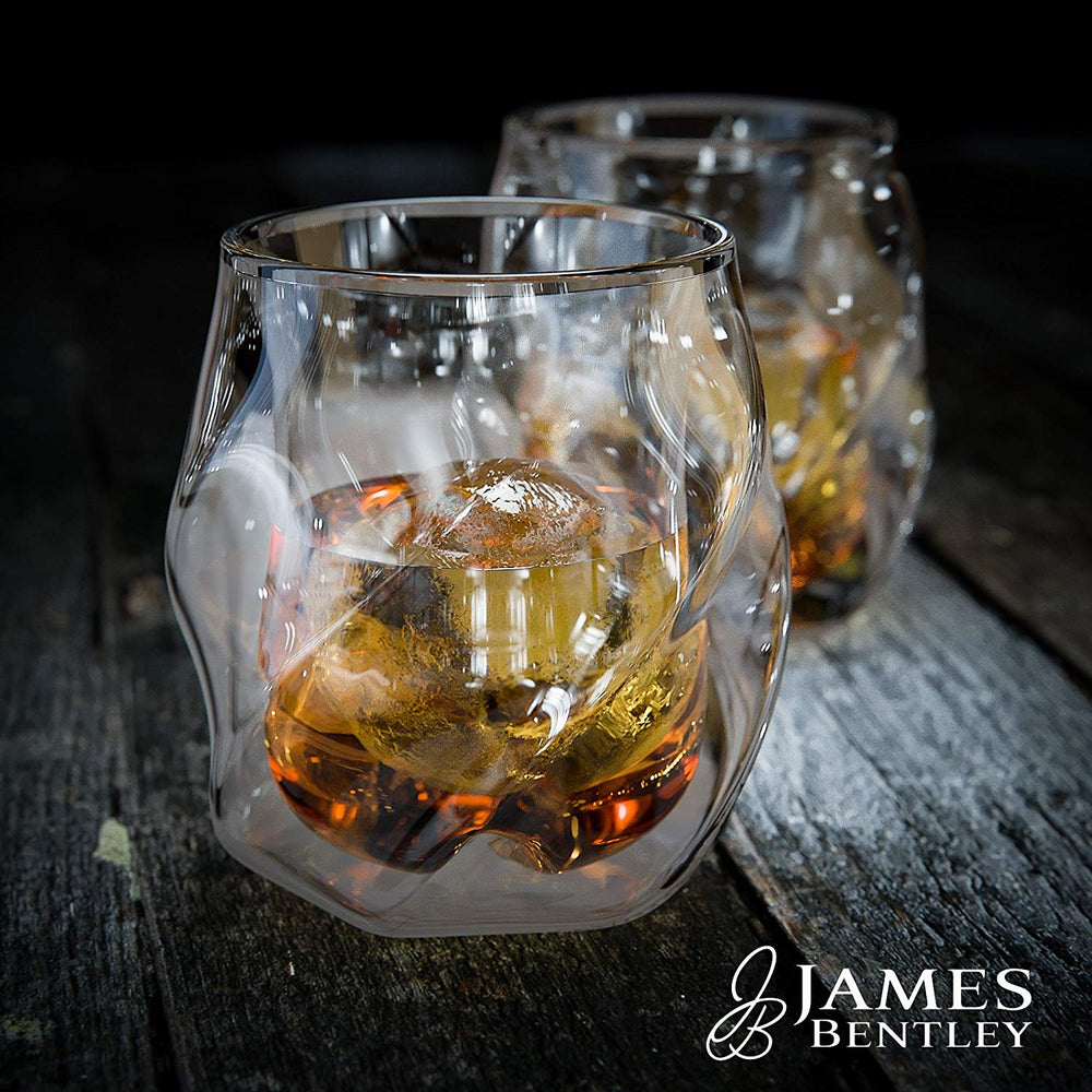 Load image into Gallery viewer, JB Whiskey Glass | Set of 2 Hand-blown Double Wall Glasses