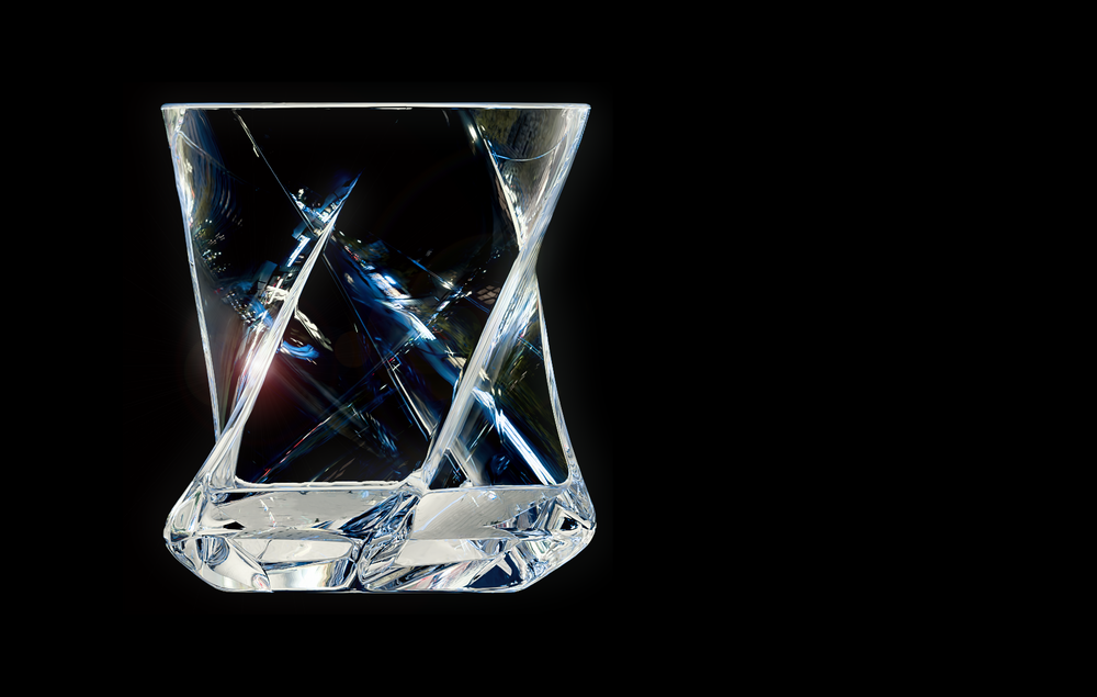 Load image into Gallery viewer, STAR Heavy Tumbler | Set of 2 Hand-blown Crystal Whiskey Glasses