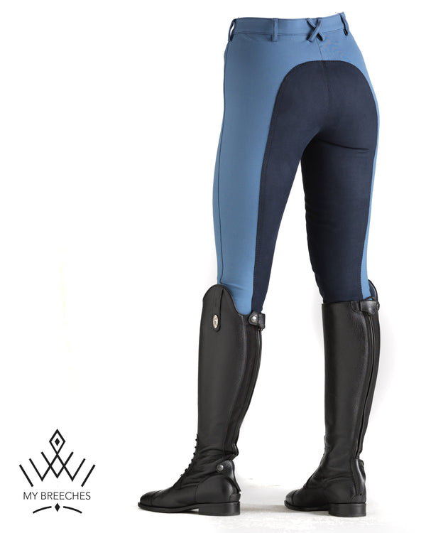 "Pikeur Lugana Contrast Ladies Breeches - SALE Ladies Breeches My Breeches | Pikeur Insignia Blue/ Nightblue 34/UK20""/USA22"""