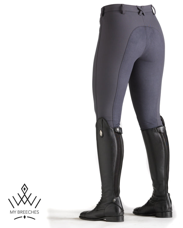 "Pikeur Lugana Stretch Ladies Breeches - SALE Ladies Breeches My Breeches | Pikeur Dark Shadow 96/UK34""long/USA36""long"