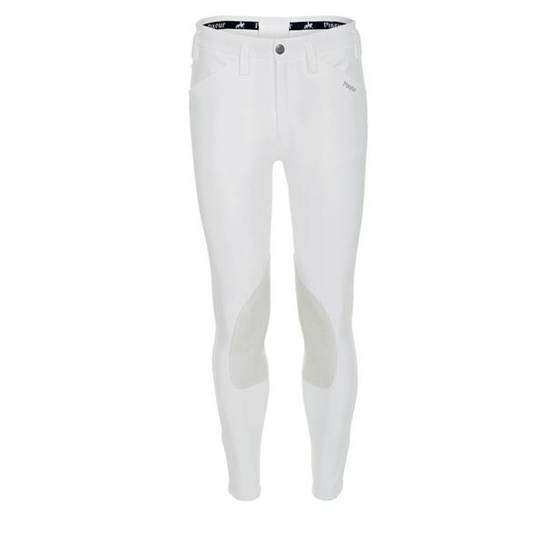 "Pikeur Rodrigo McCrown Suede Knee Patch Men's Breeches - SALE My Breeches | Pikeur White 54/UK38""/USA38"""