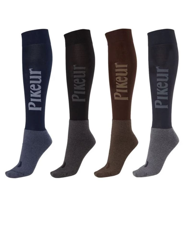 Pikeur Functional Long Logo Socks My Breeches | Pikeur