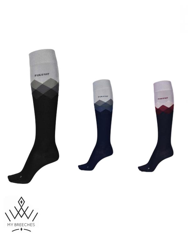 Pikeur Long Socks with Diamond Pattern My Breeches | Pikeur