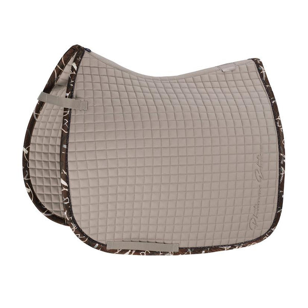 Eskadron Cotton Saddle Pad Platinum 2020 Eskadron My Breeches | Eskadron Greige Pony - Dressage
