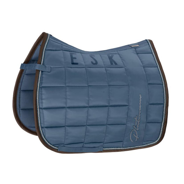 Eskadron Big Square Glossy Saddle Pad Platinum 2020 Eskadron My Breeches | Eskadron Vintage Blue Pony - Dressage