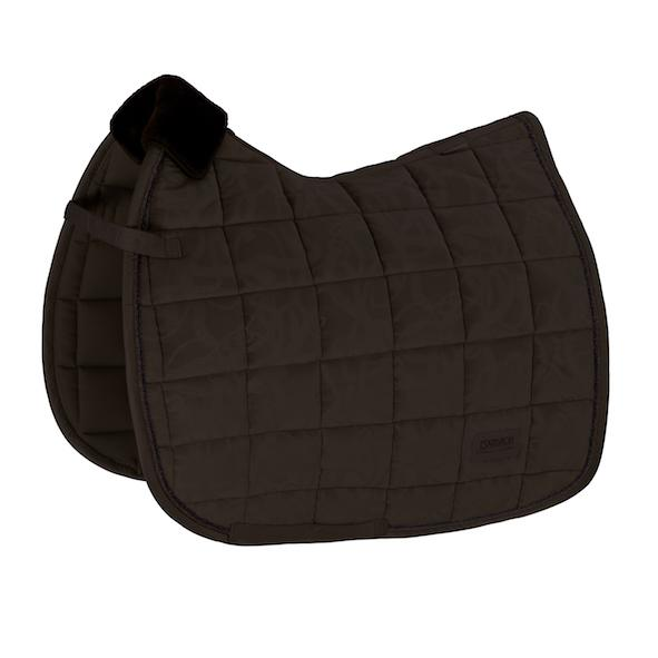 Eskadron Velvet Stamp Saddle Pad Platinum 2020 Eskadron My Breeches | Eskadron Havana Brown Pony - Dressage