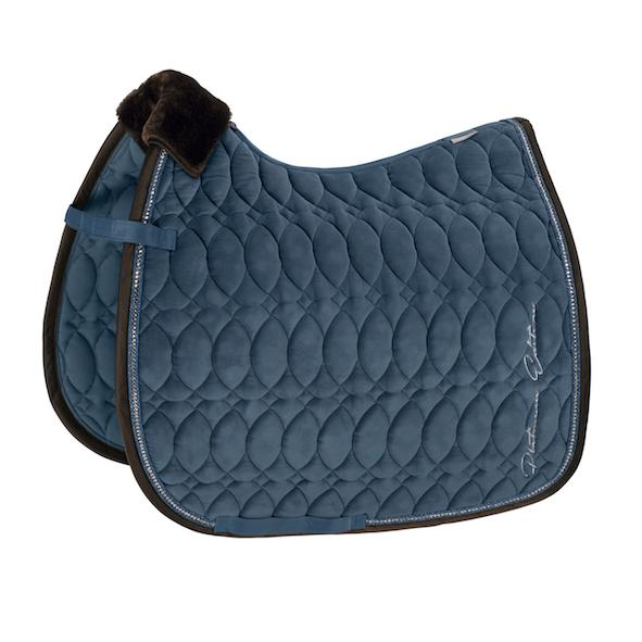 Eskadron Velvet Crystal Saddle Pad Platinum 2020 Eskadron My Breeches | Eskadron Vintage Blue Pony - Dressage