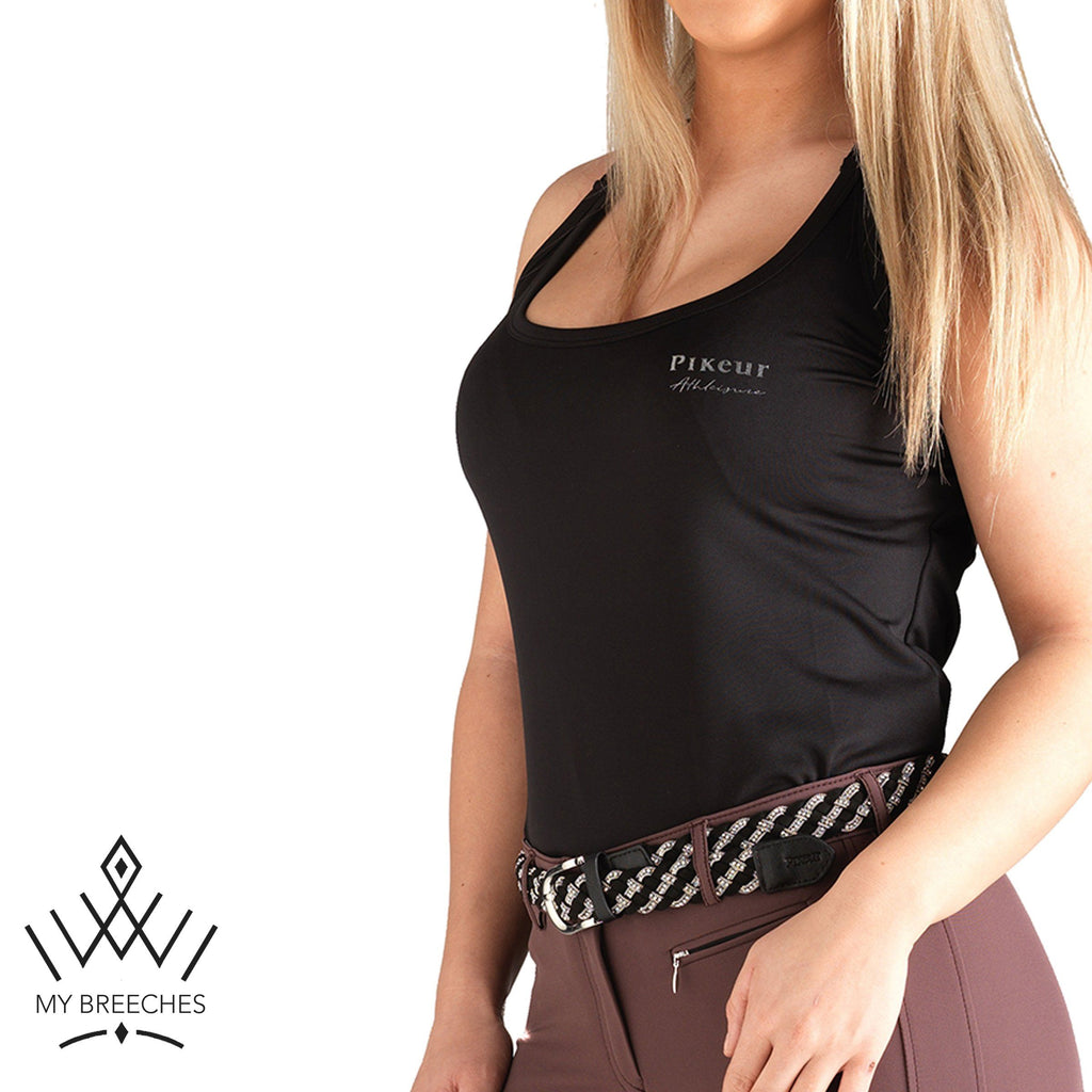 Pikeur Lona Athleisure Functional Ladies Top *Pre-order for March Delivery* My Breeches | Pikeur Black 32/UK4/USA0