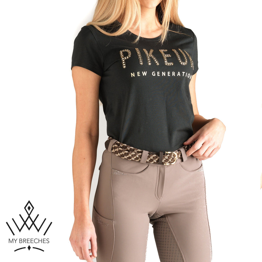Pikeur Lene New Generation Ladies Round Neck Shirt My Breeches | Pikeur Dark Green 32/UK4/USA0