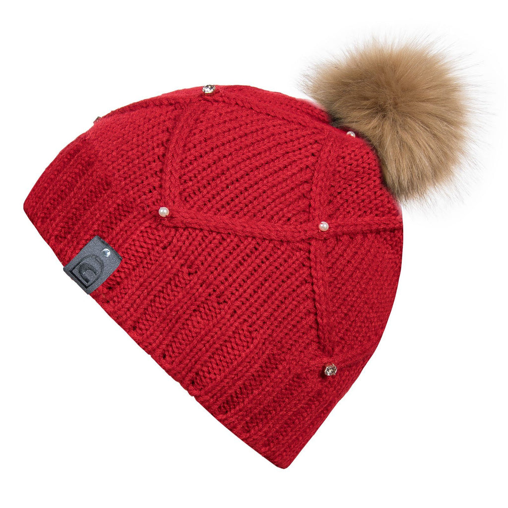 Cavallo Libby Knitted Hat My Breeches | Pikeur Lipstick Red
