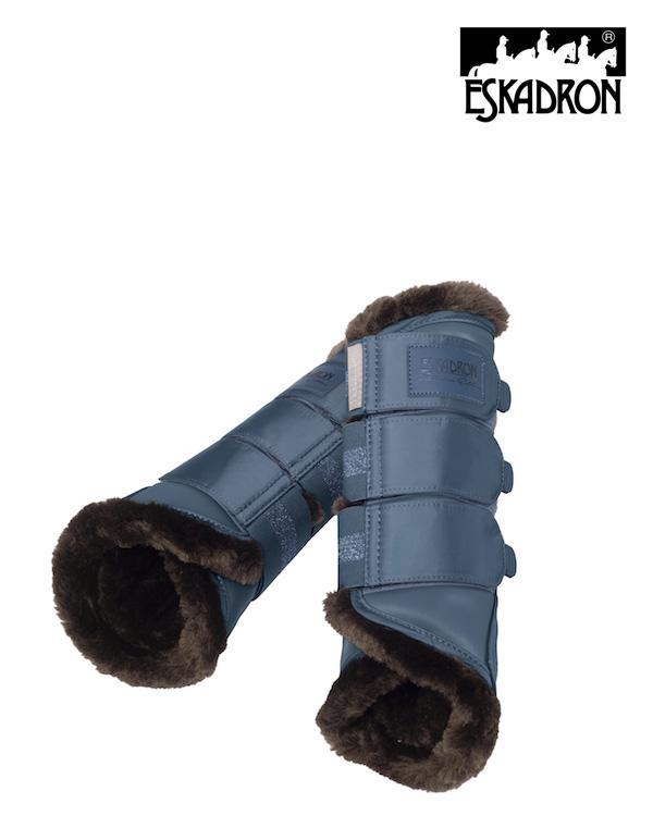 Eskadron Softslate Faux Fur Tendon Boots Platinum 2020 Eskadron My Breeches | Eskadron Vintage Blue Small
