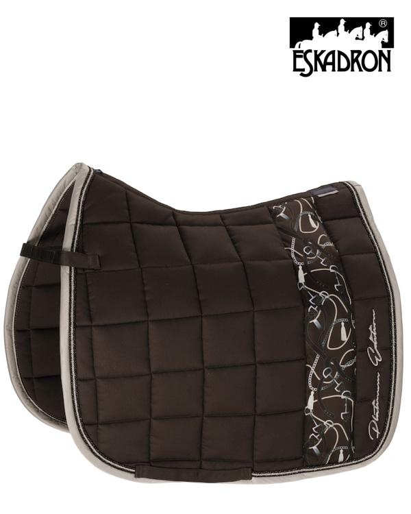 Eskadron Big Square Cotton Saddle Pad Platinum 2020 Eskadron My Breeches | Eskadron Havana Brown Pony - Dressage
