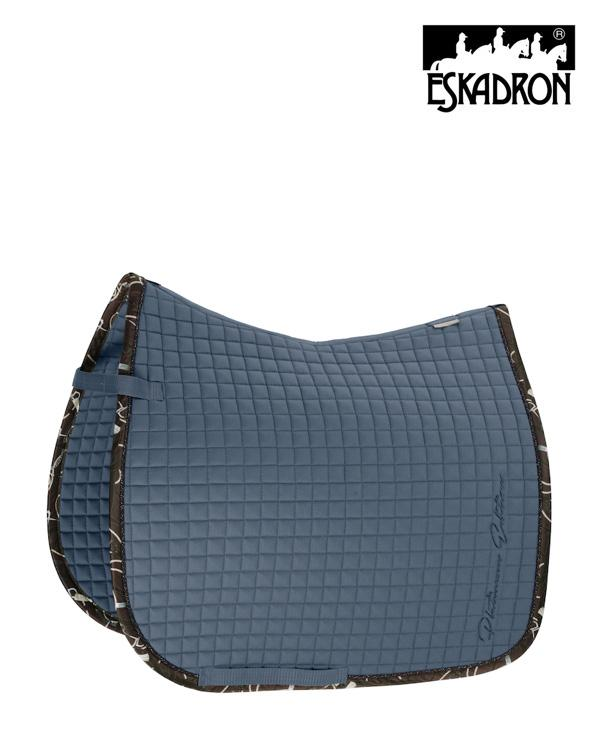 Eskadron Cotton Saddle Pad Platinum 2020 Eskadron My Breeches | Eskadron Vintage Blue Pony - Dressage