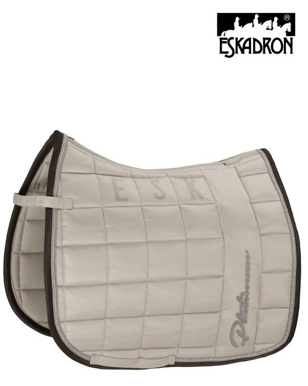 Eskadron Big Square Glossy Saddle Pad Platinum 2020 Eskadron My Breeches | Eskadron Greige Pony - Dressage
