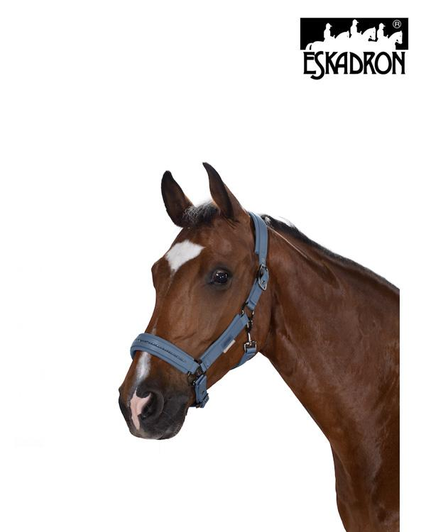 Eskadron Softslate Double Pin Headcollar Platinum 2020 Eskadron My Breeches | Eskadron Vintage Blue Pony (P2)
