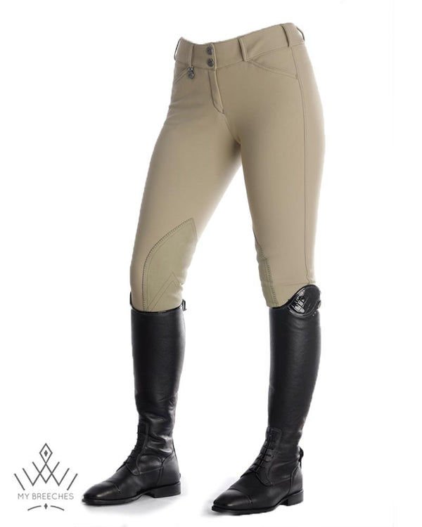 Pikeur Ciara McCrown Suede Knee Patch Ladies Breeches - SALE Ladies Breeches My Breeches | Pikeur