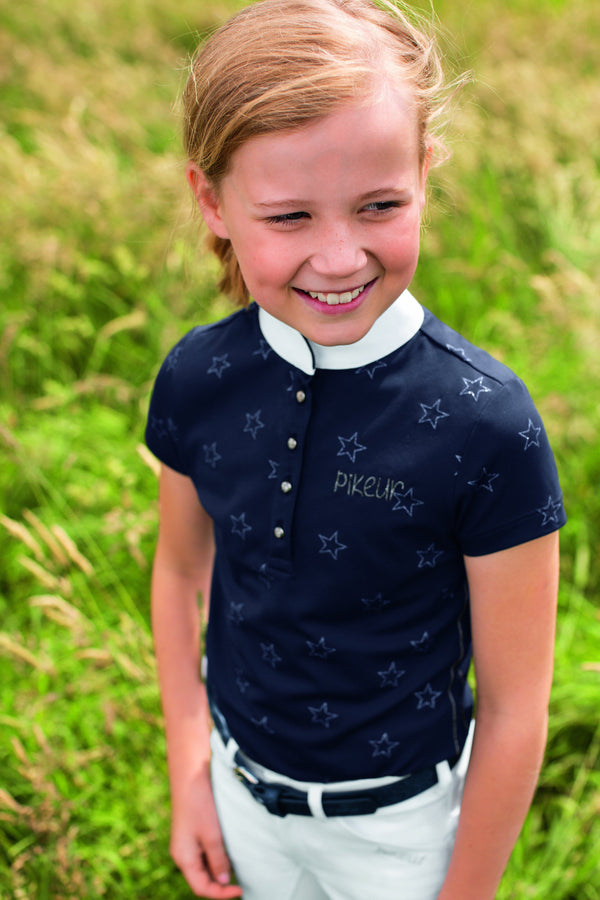 Pikeur Filly Girl's Competition Shirt - SALE My Breeches | Pikeur Navy 170 = age 15