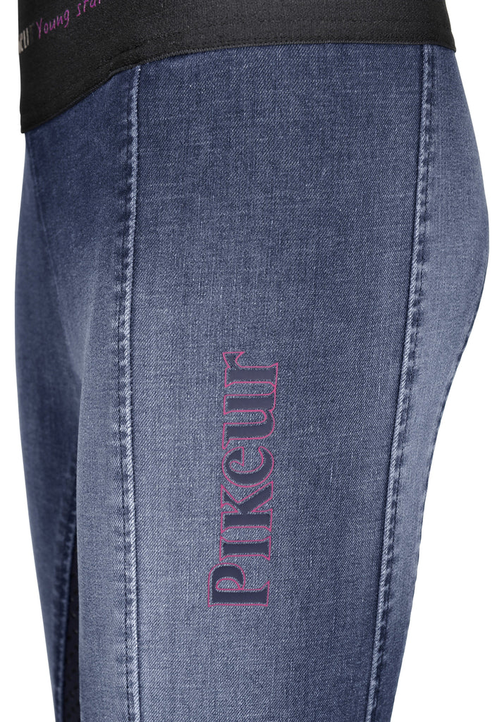 Pikeur Iona Athleisure Full Grip Jeans Children's Breeches Children's Breeches My Breeches | Pikeur Denim Blue 128 = age 8