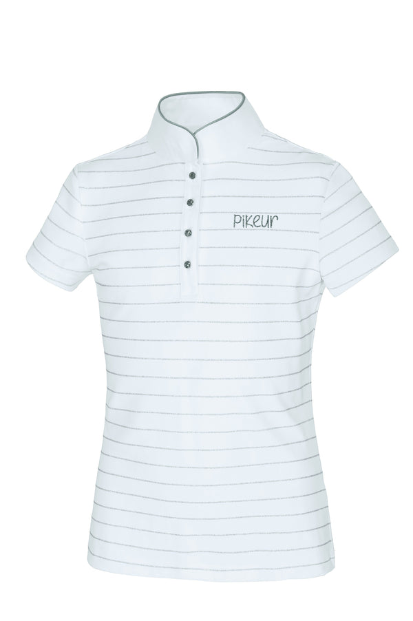 Pikeur Filly Girl's Competition Shirt - SALE My Breeches | Pikeur White/Silver 176 = age 16