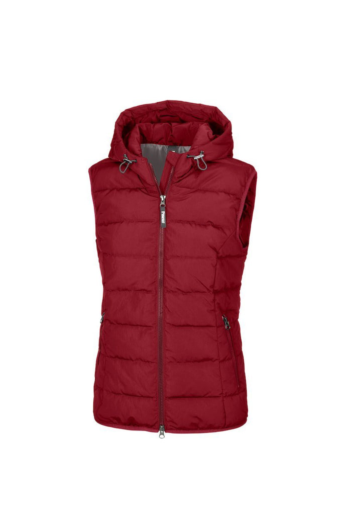 Pikeur Zena Ladies Quilted Gilet My Breeches | Pikeur Pomegranate 34/UK6/USA2