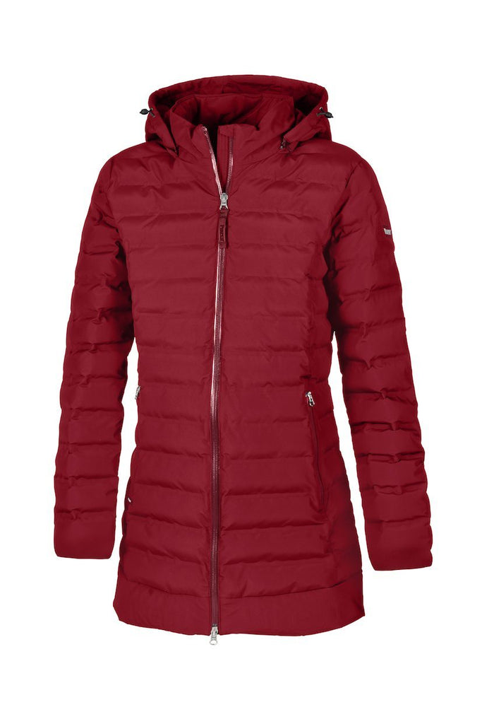 Pikeur Tilda Ladies Quilted Waterproof Coat My Breeches | Pikeur Pomegranate 34/UK6/USA2