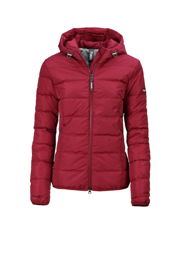 Pikeur Julina Ladies Quilted Jacket My Breeches | Pikeur Pomegranate 34/UK6/USA2