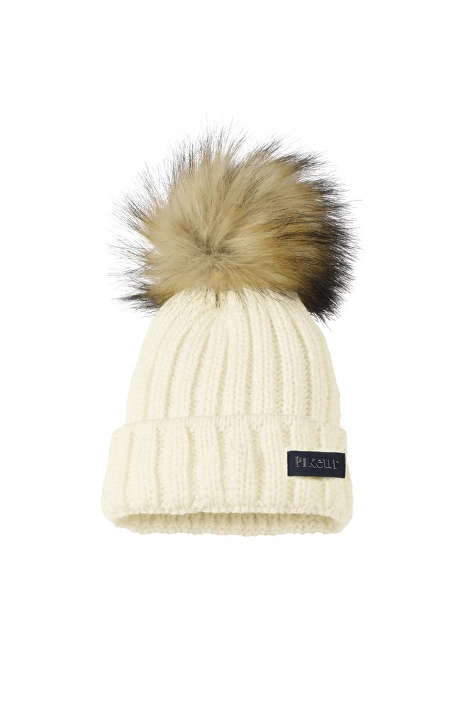 Pikeur Knitted Hat with Faux Fur Pommel
