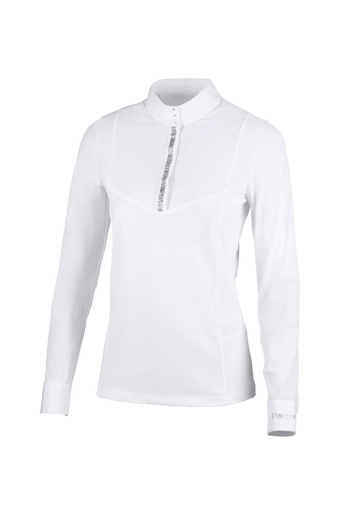 Pikeur Oriana Long-Sleeved Ladies Competition Shirt *Pre-order for March Delivery* Ladies Competition Shirts My Breeches | Pikeur White 34/UK6/USA2