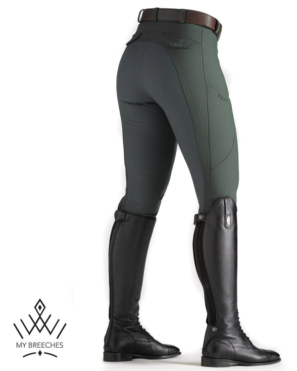"Pikeur Laure Full Grip Ladies Breeches Ladies Breeches My Breeches | Pikeur Dark green 32/UK18""/USA20"""