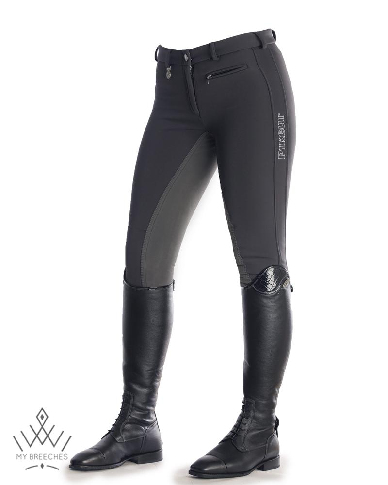 "Pikeur Lucinda Softshell Winter Ladies Breeches - SALE Ladies Breeches My Breeches | Pikeur Anthracite 34/UK20""/USA22"""