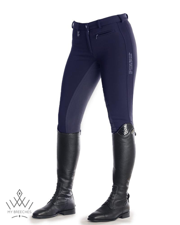 "Pikeur Lucinda Softshell Winter Ladies Breeches - SALE Ladies Breeches My Breeches | Pikeur Nightblue 34/UK20""/USA22"""