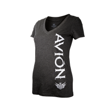 Women V-Neck Tee Black