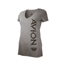 Women V-Neck Tee Gray